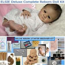 Reborn Doll KIT ELSIE Complete Beginner Starter DELUXE  Lot DVD, PAINTS, MOHAIR