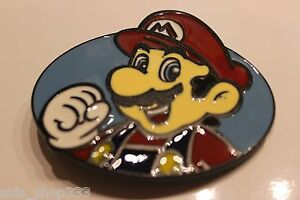 MARIO Super Mario Bro's Belt Buckle or showpiece HQ enamel US seller Great gift