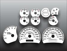 2003-2007 Silverado Sierra Truck GAS Instrument Cluster White Face Gauges 03-07