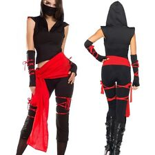 Women's Adult Halloween Fancy Deadly Spirit Pretend Ninja Samurai Master Costume