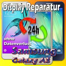 24 Stunden Samsung Galaxy A3 SM-A310F 2016 Display Glas Reparatur Schwarz