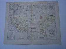 Carte 19° 1852  couleur atlas Malte brun Colonie d'Asie d'Afrique et d'Océanie