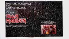 "IRON MAIDEN A ""BLOODY GREAT FIRST 5 YEARS"" RARE ORIGINAL PRINT PROMO POSTER AD"