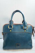 RARE Dooney & Bourke Denim Florentine Vachetta Leather Cameron Satchel NWT $328
