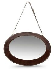 Wall Mirror with Hanging Adjustable Leather Strap for Bedroom Decor,Modern Style