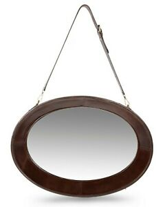 Rattan Wall Mirror, Decorative Large Goat Leather Vintage Wall Mirror, Next Home