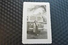 Vintage Car Photo Pretty Girl w/ 1940s Beck Special Bus 861