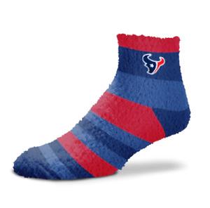 Houston Texans NFL For Bare Feet Rainbow Stripe Fuzzy Sleep Soft Socks OSFM