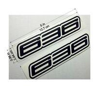 Kawasaki 636 Black decals stickers set of two ninja FAST TO SHIP emblem zx6 r