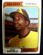 DAVE WINFIELD RC 1974 TOPPS BASEBALL ROOKIE CARD#456-SAN DIEGO PADRES ROOKIE
