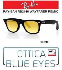 Occhiali da Sole RAYBAN RB 2140 WAYFARER REMIX Sunglasses YELLOW 901/4F ray ban
