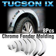 Chrome Wheel Fender Lip Cover Guard Molding Trim 8Pcs For HYUNDAI 2010-15 Tucson