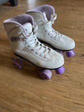 New listing Roller Derby Roller Star 600 Women's Skates Size 6-White Purple