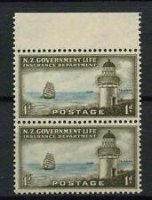La Nouvelle Zélande 1947 SG #L 43, 1D taiaroa phare neuf sans charnière paire #A 68640