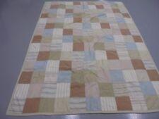 Nice Pieced Block Men's Workshirt Scraps Quilt