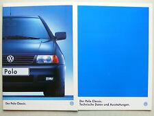 Prospekt Volkswagen VW Polo Classic, 11.1996, 44 Seiten + Daten/Ausstattungen