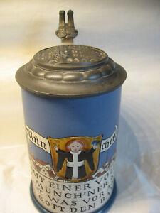 Bierkrug München ,  Münchner Kindl  /     V & B  Mettlach  1901  1 Liter