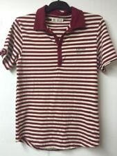 firetrap mens size L red and white stripped top lovely conditions
