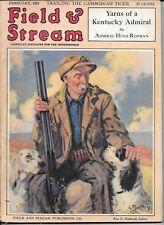 Field & Stream magazine February 1928 Reginald F. Bolles Cover hunting dog
