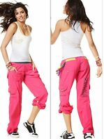 ZUMBA FITNESS 2Pc.Set! CARGO Cargos Capri PANTS + RACERBACK Top Tank *EliteZWear