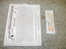 Flight Path decals 1/200 Fp20-19 National Sun King Boeing 727-100 -200 H80