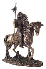"Mandan Indian Chief Bronze 7"" H Statue Reproduction"