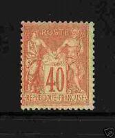 "FRANCE 1877-80 YT 94 ""SAGE TYPE II 40c ROUGE"" NEUFxxTTB"