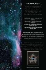 STARLIT SKY Law Enforcement Police Officer Memorial 9/11 9-11 Poem Poster Gift