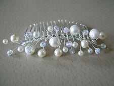 Accessoire de cheveux  peigne  Perles Mariée/Mariage couleur  Ivoire/Argt p robe