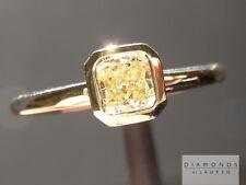 .50ct Fancy Light Yellow SI2 Cushion Cut GIA Bezel Ring R4645 Diamonds by Lauren