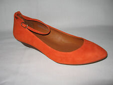 MADEWELL BRAND NEW (NIB) SUEDE ANKLE WRAP MINI WEDGE Color:Modern Orange