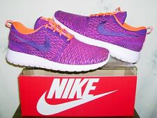 New NIKE WMNS ROSHE ONE FLYKNIT Sz 11 Total Crimson Shoes 704927-803 FAST SHIP!