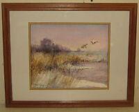 Vintage SCOTT ZUCKERMAN 'Mallards at Sunrise' Duck Sporting Art Painting -Listed