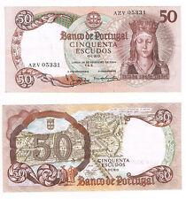 Banco de PORTUGAL billet bank note 50 cinquenta Escudos 1964 AZV 05331