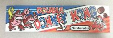 Double Donkey Kong marquee sticker. 2.75 x 10. (Buy 3 stickers, GET ONE FREE!)