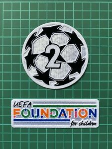 Uefa Champions League 2 Times Winners, Foundation For Children Patch Set