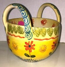 ITALICA ARS ITALY POTTERY SMALL HANDLED BOWL Vintage