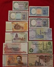 7 PAPER MONEY RARE (UNC) EGYPTIAN SET*+ 4paper money set FROM CAMBODIA total 11