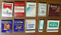 Marlboro Medium Camel Kool Bright Salem MATCHBOOKS 1980s LOT of 10 boxes/books