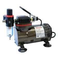 "Paasche 1/5 HP Airbrush Compressor w/Regulator & Both 1/4""NPT & 1/8""BPS Fittings"