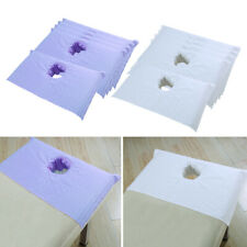 10PCS Cotton Spa Massage Table Cover Breathable Beauty Bed Face Hole Towel