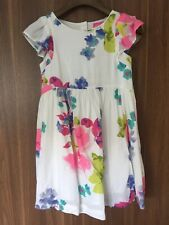 Joules Girls White Floral Summer Dress Age 7