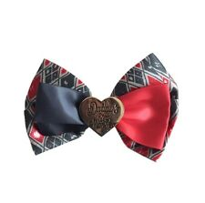 Suicide Squad Clip on Hair Bow / Bow Tie With Daddy's Lil Monster Metal Heart