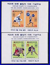 KOREA 1972 MUNICH GERMANY OLYMPICS x2 S/S MNH CV$12.00 WRESTLING JUDO H-S
