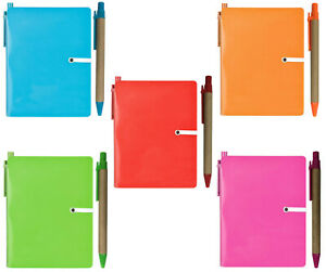 A6 Notepad Retractable Pen Recycled Materials Plain White Paper & Trinket Pocket