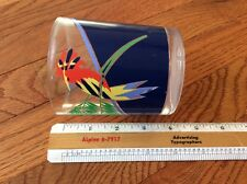 Vtg H J STOTTER inc NY USA handpainted desktop pen holder Shaving mug cuptumbler