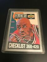 1994 UD COLLECTOR'S CHOICE CHECKLIST SILVER SIGNATURE MICHAEL JORDAN CL #420