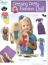 "Dressing Pretty Fashion Doll  ~ plastic canvas book ~ 15"" doll patterns & case"