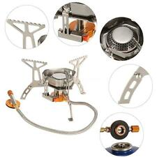 3500W Portable Camping Gas Stove Foldable Outdoor Cooking Split Burner New E3Q1