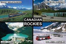 SOUVENIR FRIDGE MAGNET of THE CANADIAN ROCKIES CANADA